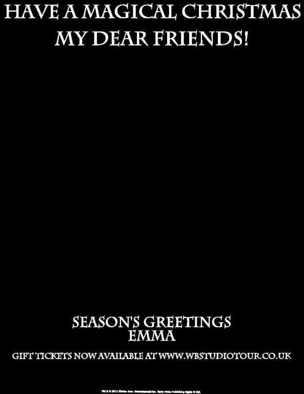 WB Studio Tour Christmas Card